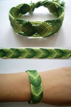 leaf overlap friendship bracelet pattern