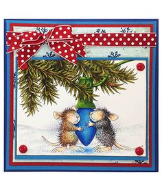 Stampendous » CHRISTMAS HOUSE MOUSE Paws to Warm by Jennifer Dove