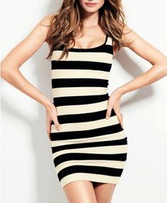 Chic Round Neck Stripe Design Sheath Dress For Lady on Luulla 09482ee32