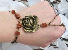 Rose Slave Bracelet Ring Slave Bracelet by TheMysticalOasisGlow, $25.00