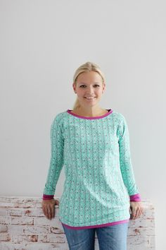 Kostenloses Schnittmuster Kaschi – Anleitung Raglanshirt/ Basisshirt  mit tollen U-Bootausschnitt, 36-48