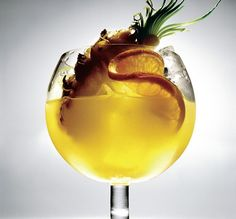 Goombay Smash - pineapple juice, orange juice, Malibu, light rum and dark rum