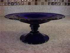 Cobalt Blue Depression Glass I want this! Mixing Bowls, Cake Stands, Carnival Glass, Antique Glass, Vaseline, Black Glass, Milk Glass, My Favorite Color, Cobalt Blue