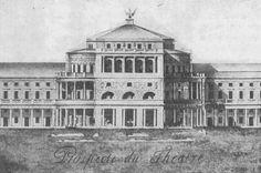 Niezrealizowany projekt fasady Teatru Wielkiego w Warszawie, 1822 rok