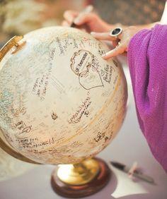 Globe guest book !!