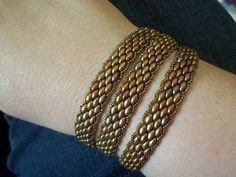 Super Duo Peyote Stitch Wrap Bracelet - YouTube