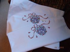 1 Pair of Vintage Embroidered Pillow Cases by #PaulasVintageAttic, $15.00 Pretty purple floral pattern