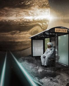 jupiter bus station… 🚌®️ – Science, Physics and Astronomy News Astronaut Wallpaper, Life In Space, Space Artwork, Space Illustration, Illustrations, Astronauts In Space, Moon Photography, Space And Astronomy, Nasa Space