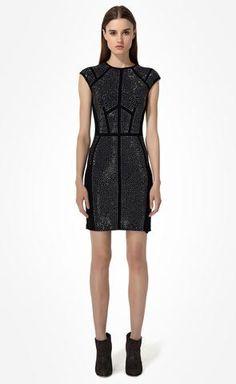 Nailhead Dress | Rebecca Taylor