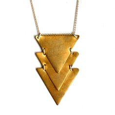 Tri-Triangle Necklace by Rachel Pfeffer