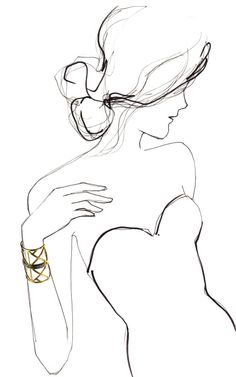 i know this is a jewelry advertisement but i still love the simple sketch of the woman
