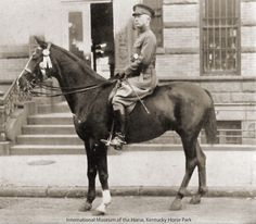 Maj. George Patton, here seen in 1922,was an accomplished horseman. His 2nd assignment after graduating West Point was w/the 15th Cavalry at Fort Meyer, Va. He competed in steeplechases & played polo. In 1912 he was a member of the U.S. Olympic Team & finished 5th in the cross country. He made the team in 1916 Olympics but the games were cancelled, due to the war. He later rejoined the Cavalry & owned dozens of horses. He played on the Army polo team & was an avid foxhunter.