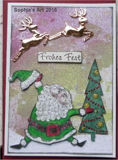 Sophie's Art: Der Weihnachtsmann kommt  -  Santa Claus is Coming...