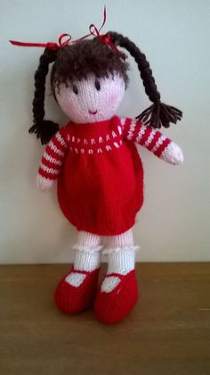 Hand knitted doll by DreamDollies on Etsy ☆