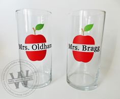 Teachers gifts. Personalized pencil holders.
