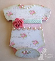 cute baby girl card/invite/thank you/birth announcement