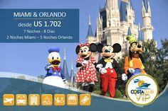 ¡Disfruta en un mismo viaje de Miami y Orlando durante 7N – 8D!!! Incluye: Boleto, Transfer, Hospedaje, Alimentación, City Tour, Tour de Compras y Entradas a diferentes Parques. Reserva ya está súper promoción en http://costacruceros.com.ec/#promociones durante Junio. Información y reservas a través de nuestro Chat en Línea, Call Center 062 711 838 - 022 746 066 - 062 511 248 y WhatsApp 093 999 7105 en Ecuador.