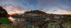 Rio Tambre en Pontemaceira, Ames A Coruña. Pano of Pontemaceira Foto de: Luis Cagiao