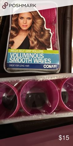 🔴CLEARANCE PRICE DROP! ⬇️🔴 CONAIR rollers!!! NWT hair rollers! Large with self grip! Pack includes 6 rollers Conair Other
