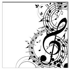 Found it at Wayfair - Musical Notes Graphic Art on Canvas Music Drawings, Music Artwork, Tatoo Musical, Musik Illustration, Tattoo Noten, Music Notes Art, Canvas Artwork, Canvas Prints, Note Tattoo
