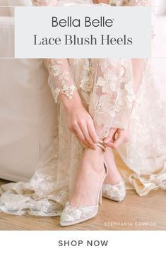 The prettiest embroidered lace bridal heels wedding shoes with a romantic blush color on satin silk. Secure them with a double ankle strap. Bridal Flats, Wedding Shoes Heels, Blush Heels, Special Occasion Shoes, Designer Heels, Blush Color, Handmade Wedding, Embroidered Lace, Feminine Style