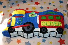 Train Birthday Cake ~ Oliver's 3rd birthday ~ made by Leann