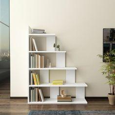34 The Best Art Deco Bookcase Ideas Perfect For Living Room Decor Step Bookcase, Bookshelf Design, Ladder Bookcase, Bedroom Bookshelf, Cool Bookshelves, Modern Bookshelf, Small Space Design, Small Spaces, Living Room Furniture