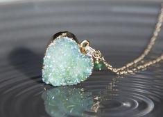 Really love this, from the Etsy shop braveandfreestudio. https://etsy.me/2EGIskE #etsy #jewellery #necklace #birthstonegifts #emerald #herkimer #diamond #necklace #emeraldpendant #pendantforher #heart #birthstone
