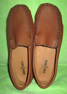 Minnetonka Men's Venetian Slip-On Moccasin Brown Size 11 M #Minnetonka #LoafersSlipOns