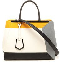 Fendi 'toujours' Contrasting Leather Shopper Bag