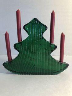 Colorful Christmas Tree, Glass Christmas Tree, Unique Vintage, Vintage Art, Christmas Tree Candle Holder, Green Theme, Vintage Holiday, Garland, Glass Art
