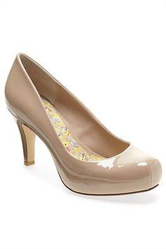 Next Shoes for Women - Next Patent Snub Toe Court Shoes