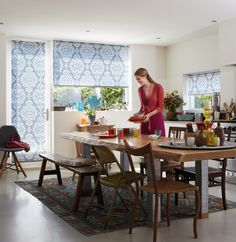Such cute roller blinds!