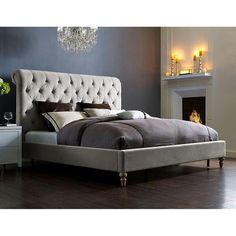 TOV Furniture Putnam Grey Velvet Queen Bed