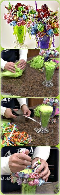 How to Make a Candy Bouquet | Lollipop Malt