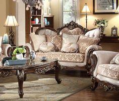 McFerran Home Furnishings - Loveseat in Dark Brown - Cheap Living Room Sets, Diy Living Room Decor, Living Room Sofa, Living Room Furniture, Sofa Furniture, Luxury Furniture, Furniture Dolly, Latest Sofa Designs, Silver Living Room