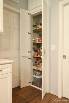 Shop for cabinets from the online cabinet retailer. Transform your space into the kitchen of your dreams with wholesale kitchen cabinets online. Kitchen Organization Pantry, Kitchen Pantry, Kitchen Cabinets, Organized Kitchen, Kitchen Stuff, Discount Cabinets, Cabinet Companies, Pantry Closet, Pantry Makeover
