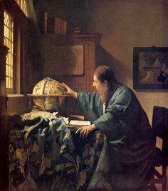 The Astronom - Johannes Vermeer, 1668