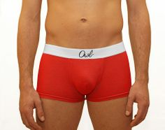 COLORFUL,-9TH-,RED,Sustainable, Ricycle , Retro , 100% Cotton , Owl underwear