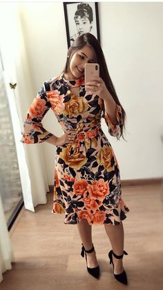 Simple Summer to Spring Outfits to Try in 2019 – Prettyinso Modest Dresses, Elegant Dresses, Vintage Dresses, Beautiful Dresses, Casual Dresses, Diy Dress, Dress Skirt, Dressy Outfits, Skirt Outfits