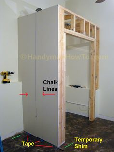 How To Build A Basement Closet Drywall Installation Photo Tutorial The Is Cut