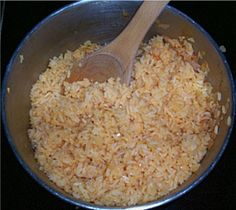 Just an easy, delicious and authentic rice recipe. Perfect paired with refried beans as an accompaniment to any Mexican meal.