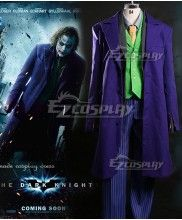 DC Comics Batman The Dark Knight The Joker Full Suit Cosplay Costume