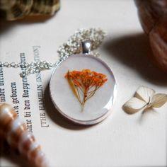 StudioBotanica  - Resin Jewelry Pressed Flower Necklace Botanical Artwork - on Etsy