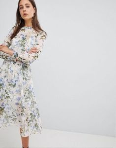 New Look Summer Floral Midi Dress