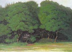 Les arbres touffus (1914), by Félix Vallotton (1865-1925).