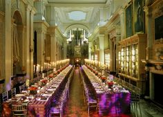 Long Libr Dinner Banqueting style