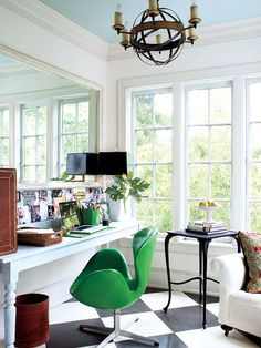 cool green chair