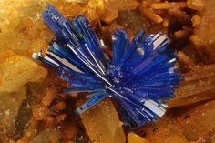Linarite : PbCu(SO4)(OH)2 Monte Trisa Mines, Mercanti Valley, Torrebelvicino, Vicenza Province, Veneto, Italy