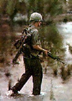 Infantryman walking point.   Photo Credit: EALM.